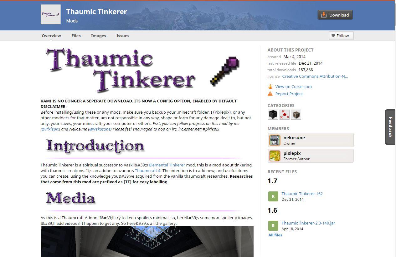 Thaumic Tinkerer (Thaumcraft Addon) - Evolve Knowledge - Minecraft