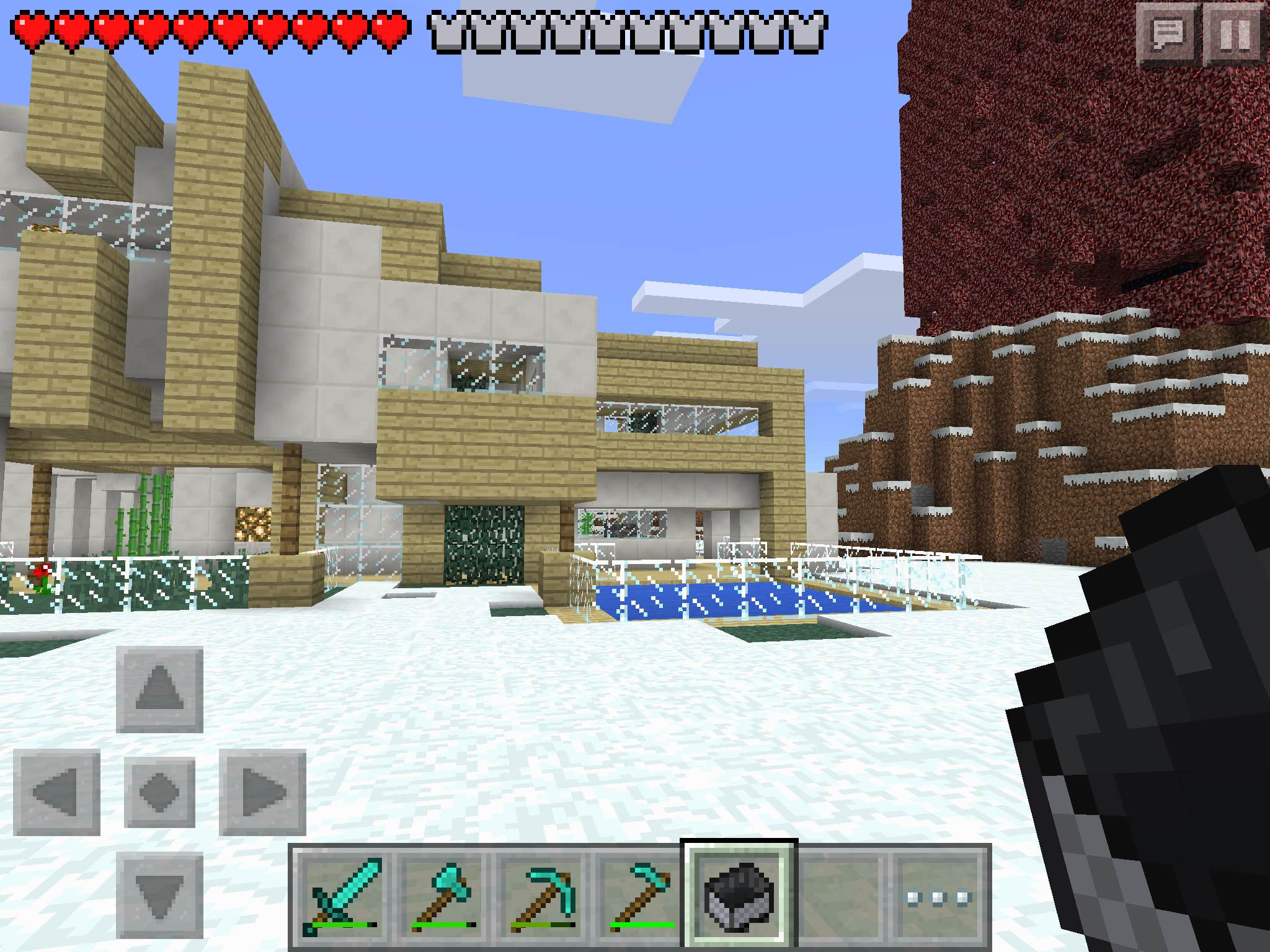 Mcpe Survival Modern House Download Mcpe Maps Minecraft