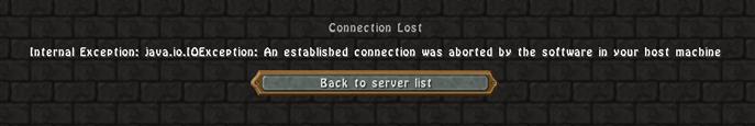 Server Connection Problems