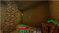 Dug out a small area for a nether portal and storage under the house.