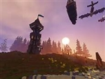 A sunrise in Aquatha's central valley