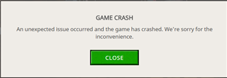 game crash