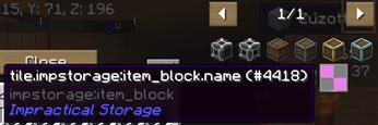 Impractical Storage JEI error