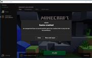 Minecraft launcher crash