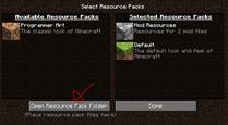 Resource Packs Menu