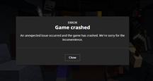 Game Crash Message Capture