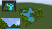 A terrain built with shaders