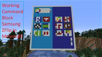 Working Command Block Samsung ZFold In Minecraft