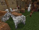 donkey,mule,and Skeleton horse