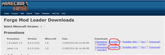 The downloads I used